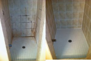 Tile and Grout Natural Stone Shower Cleaning